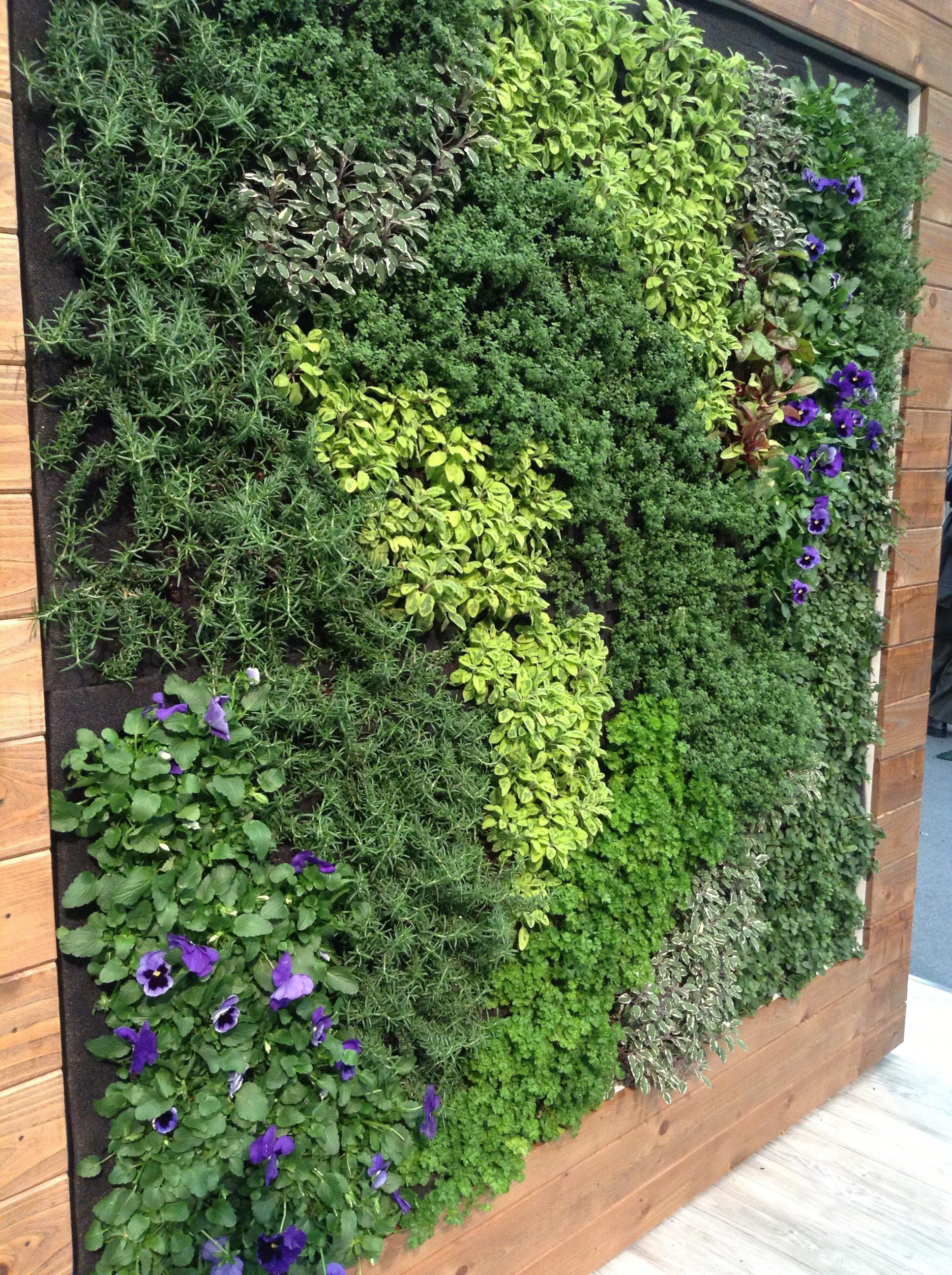 Architectural digest home design show 2013 stylesson Herb garden wall ideas